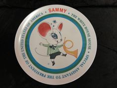 Vintage Sammy The White House Mouse Collector Plate Special Assist to President