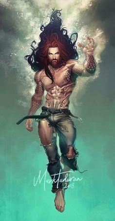 Something Marvel? — Aquaman by Markovah Marvel Comics, Arte Dc Comics, Character Drawing, Comic Character, Character Design, Batwoman, Nightwing, Dc Characters, Fantasy Characters