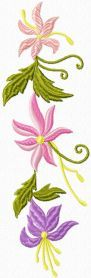 Retro Flowers free machine embroidery decoration. Machine embroidery design. www.embroideres.com