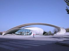 Bus station in Casar de Cacares in Spain by Architect Justo Garcia Rubio