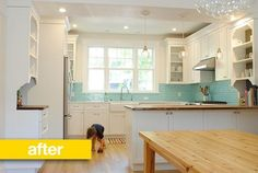 Nice colours and layout - Kitchen Before & After