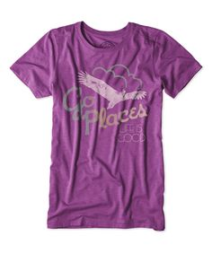 Look at this #zulilyfind! Perfect Plum 'Go Places' Cool Tee by Life is good® #zulilyfinds