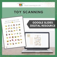 This digitally interactive resource is designed for use with Google Slides. This resource contains 10 slides in total. Answer sheets are included.The student must find 10 of the same toy as the example at the top of the page, and drag the circles to mark the correct answers.