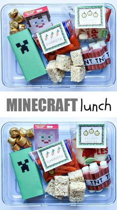 Minecraft School Lunch for Kids