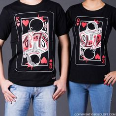 """Cute Christmas Gifts for Girlfriend or Wife- BoldLoft """"You're My Other Half"""" His and Hers Couple Shirts. Send this Christmas gift to your girlfriend or wife so that she knows you fit best with her because she is your queen for life. Valentine Gifts For Girlfriend, Cute Valentines Day Gifts, Cute Christmas Gifts, Gifts For Your Boyfriend, Valentine Shirts, Couple Tees, Matching Couple Shirts, Matching Couples, Matching Set"""