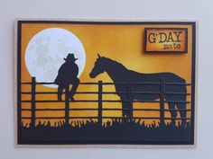 Birthday Cards For Men, Man Birthday, Westerns, Horse Cards, Card Companies, Cowboy And Cowgirl, Punch Art, Paper Roses, Masculine Cards