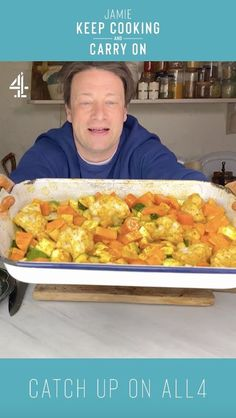 Every Single Recipe From Jamie Oliver's New Series, Keep Cooking and Carry On Jamie's Recipes, Curry Recipes, Cooking Recipes, Healthy Recipes, New Cooking, Batch Cooking, Jamie Oliver Vegetable Curry, Veg Dishes, Vegetable Dishes