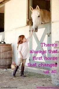 There's always that first horse that changes us all.