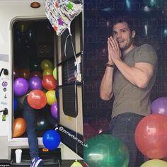 "2,511 Likes, 16 Comments - Jamie Dornan-Amelia Dornan (@jamiedornan_uk) on Instagram: ""Jamie in his trailer last May after Dakota filled it with balloons for his birthday#jamiedornan…"""