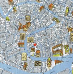 Tourist map of Venice city centre Maps Pinterest Venice city