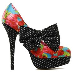 Iron Fist 'Indecent Obsession' strawberry print bow platform shoes