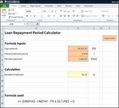 loan repayment period calculator v 1.0
