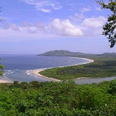 Tamarindo, Costa Rica. Swam across that river every day to get to better surf spots