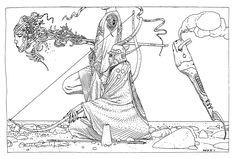 Illustration_40 days dans le Désert B_Jean Giraud Moebius_http://www.moebius.fr/