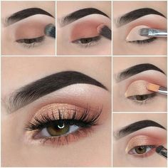 Schönes Augen Make-up Step by step how to achieve a soft glam makeup tutorial look Wedding Favors – Smoky Eye Makeup, Makeup Eye Looks, Red Lip Makeup, Eye Makeup Steps, Makeup For Brown Eyes, Makeup Eyeshadow, Eyeshadow Palette, Blue Eyeshadow, Makeup Palette
