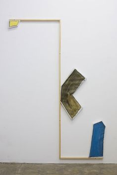 Untitled (Fixture), 2011  Acrylic and Charcoal on canvas panels with wood framework  97x 67 x 1.75 inches