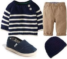 Chino Pants & Toms - Baby Boy - How cute!