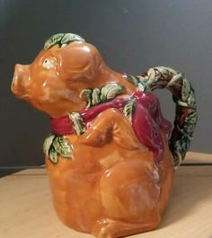 Majolica pitcher