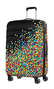 Palm Valley 4-wheel 77cm large Spinner suitcase Pixel Black