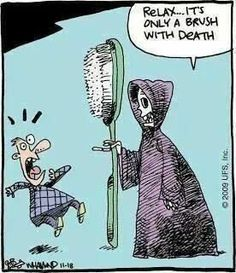 Relax... It's only a brush with death.