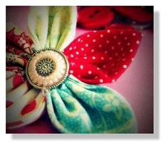 Easy fabric flowers. They are so cute as hair bows for little girls.