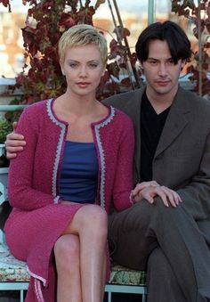 Keanu Reeves with Co-Star Charlize Theron at Photo Call for Film The Devil's Advocate December Paris via Keanu Reeves John Wick, Keanu Charles Reeves, Charlize Theron, Keanu Reeves Sandra Bullock, Keanu Reeves Quotes, Keanu Reaves, The Devil's Advocate, Celebrity Stars, Matrix