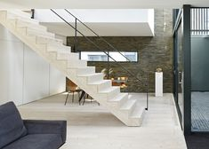 Love me some bleached wood..!  Mews house by Form_art Architects has brick walls that continue inside