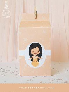 imprimible plantilla milkbox Pocahontas