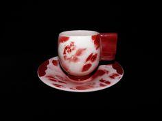 """Moderna uma outra nem tanto: Chávena de serviço de café art déco """"marmoreada"""" –..."""