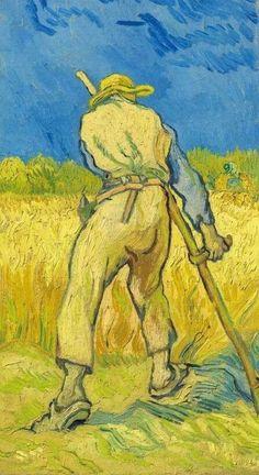Vincent Van Gogh - Le moissonneur (d'après Millet), 1889.