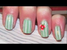 Easy flower nails tutorial!