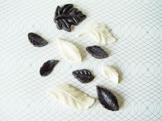 25 Leaves in Chocolate Black & White by TheFrostedPetticoat, $12.50