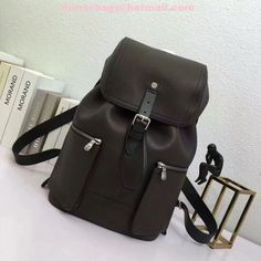 7e90a47147a0 Louis Vuitton Mens Coffee Leather Backpack M54959