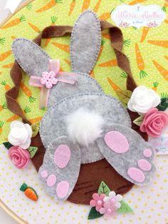 Rabbit Crafts, Bunny Crafts, Easter Crafts, Crafts For Kids, Felt Bunny, Easter Bunny, Felt Diy, Felt Crafts, Spring Crafts