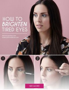 Use these techniques to brighten the under-eye area any time you're looking less than fresh.