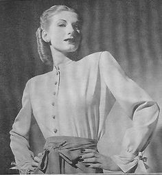 """Potter dress, From Life Magazine """"American Designers"""" 1944"""