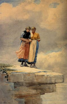 Looking over the Cliff by Winslow Homer
