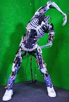 """Musculoskeletal Humanoid Robot Copies Your Muscles 
