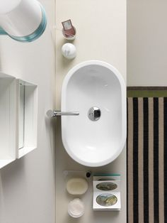 GSI ceramic | The washbasin 55x35 is countertop but can also be installed inset or semi-inset and is available in special white matte finish as well as in classic white.