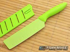 KAI Pure Komachi 2 Hollow-Ground Nakiri Lime Green AB5071 | GPKNIVES.com