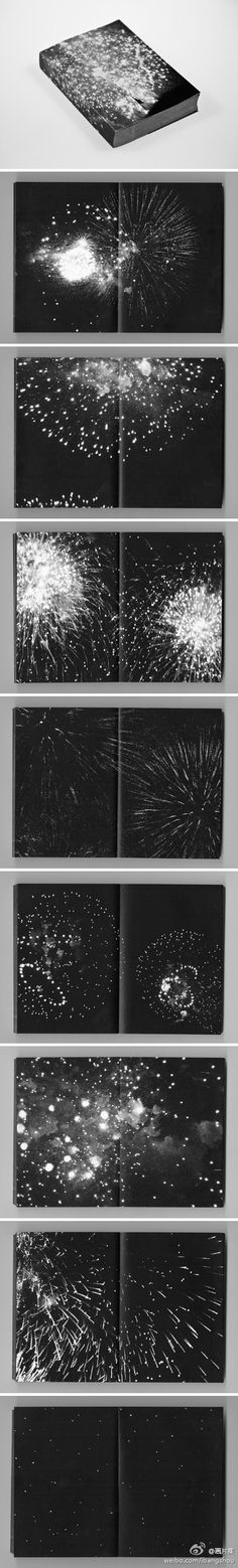 One of my all-time favorites // 花火。一本非常特别的关于焰火划破夜空瞬间的摄影集。作者: pierre le hors