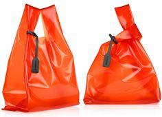 jil sander pvc market bag