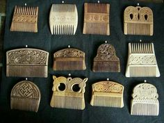 Celtic, Anglo-Saxon and Viking air combs...800-900 AD
