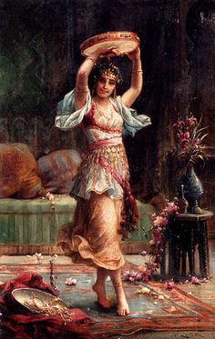 The Tambourine Player  Hans Zatzka, Austrian, 1859-1945