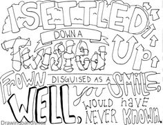 5sos lyrics coloring pages | 5sos Lyric Sheets Coloring Pages
