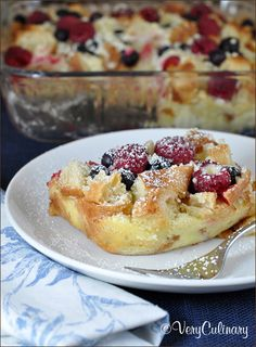 Blueberry and Raspberry Croissant Puff   Very Culinary
