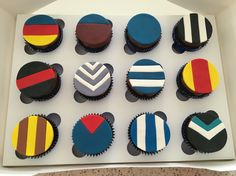 AFL Footy theme cupcakes
