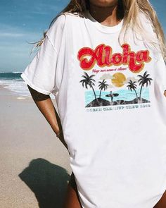 Outfit Inspired by vintage beach graphics, this tee is your new summer go-to. Knot it up, grab your favorite pair of distressed denim shorts, and hit . Trendy Outfits, Summer Outfits, Cute Outfits, Fashion Outfits, Beach Outfits, Teen Beach Outfit, Winter Outfits, Vegas Outfits, Christmas Outfits
