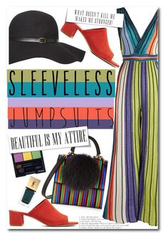 """""""No 430:Sleeveless Jumpsuit"""" by lovepastel ❤ liked on Polyvore featuring M Missoni, Les Petits Joueurs, Dorothy Perkins, Mansur Gavriel, Shiseido, Yves Saint Laurent and sleevelessjumpsuits"""