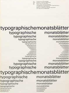 Typographische Monatsblätter Cover from 1961 issue 1 | Cover Design Emil Ruder
